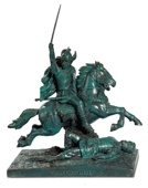 VERCINGETORIX RIDING A HORSE 16 X 9,5 X 17cm